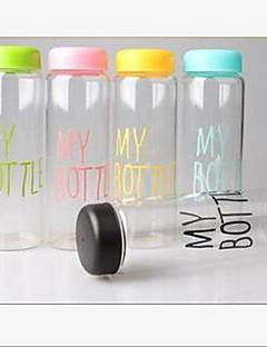 Min flaske plastik kop bærbar vandflaske (tilfældig farve)