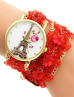 billige Armbåndsure-Dame Quartz Armbåndsur Afslappet Ur Stof Bånd Elegant Mode Sort Hvid Blåt Rød Grøn