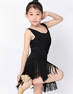 Tanzkleidung für Kinder Kleider Kinder Vorstellung Polyester Milchfieber 1 Stück Kurze Ärmel Normal Kleid