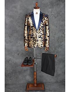 Kahve Temalı Kişiye Özel Kalıp Polyester Takım elbise - Zirve Tek Sıra Düğmeli Bir Düğme