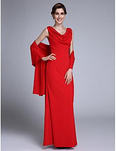 Mořská panna Spadlý nabíraný výstřih Na zem Šifón Šaty pro matku nevěsty - Sklady podle LAN TING BRIDE®