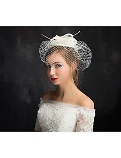 お買い得  フラワーガール-フラメンコレースフェザーネットの魅力的なヘッドピースクラシックな女性のスタイル