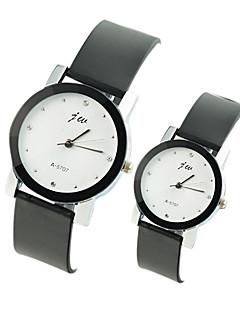 billige Par Ure-Par Armbåndsur Afslappet Ur PU Bånd Vedhæng / Mode Sort