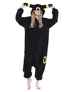 Kigurumi Pyjamas Pika Pika Heldragtskostumer Pyjamas Kostume Polarfleece Sort Cosplay Til Voksne Nattøj Med Dyr Tegneserie Halloween