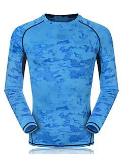 billiga Träning-, jogging- och yogakläder-Unisex Rund hals T-shirt för jogging - Himmelsblå, Röd, Ljusblå sporter Collegetröja / Överdelar Långärmad Sportkläder Snabb tork,