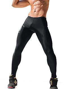 billige Herrebukser og -shorts-Herre Aktiv Skinny Aktiv Tynn Joggebukser Bukser Polyester Spandex Trykt mønster Bokstaver Alle årstider