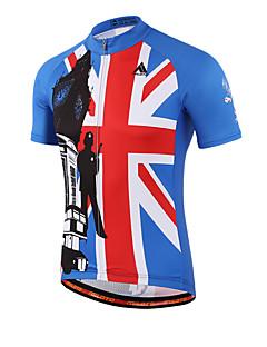 billige Sykkelklær-Miloto Herre / Dame Kortermet Sykkeljersey Britisk Sykkel Jersey, Fort Tørring, Pustende, Svettereduserende Coolmax®