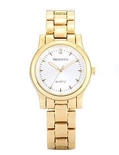 billige Høj kvalitet-REBIRTH Dame Quartz Armbåndsur Afslappet Ur Legering Bånd Afslappet Kjoleur Elegant Mode Guld Rose Guld