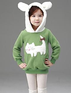 billige Hættetrøjer og sweatshirts til piger-Pigens Hættetrøje og sweatshirt Rayon Patchwork Casual/hverdag Vinter / Forår / Efterår Grøn / Lyserød