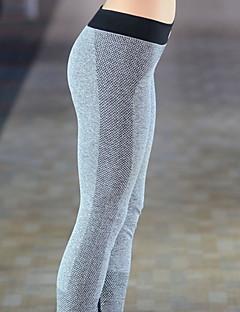 billige -Yogabukser Bukser Bunner Pustende Komprimering Naturlig Stretch Drakter Dame Yoga & Danse Sko