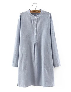 cheap Women's Tops-Women's Street chic Cotton Shirt - Striped Split
