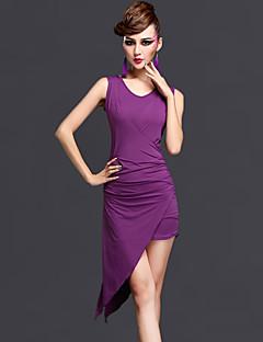 ריקוד לטיני שמלות בגדי ריקוד נשים ביצועים זהורית Chinlon עטוף 2 חלקים בלי שרוולים טבעי שמלה מכנסיים קצרים
