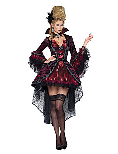 cheap Men's & Women's Halloween Costumes-Vampire Queen Cosplay Costume Party Costume Women's Christmas Halloween Carnival Festival / Holiday Halloween Costumes Red black Vintage