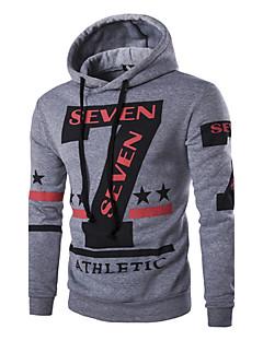 billige Hættetrøjer og sweatshirts til herrer-Herre Sport Hattetrøje - Bogstaver, Trykt mønster