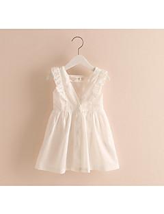 Mädchen Kleid-Lässig/Alltäglich Patchwork Baumwolle Sommer / Herbst Rosa / Weiß