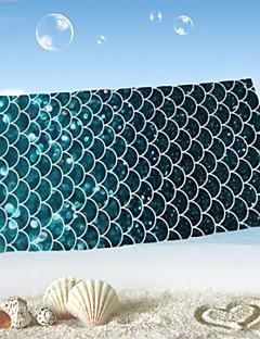 "1 PC Micro Fiber Beach Towel 55"" by 27""  Fish Scale Pattern"