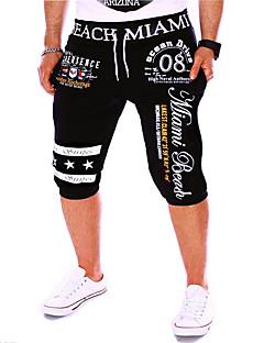 Men's Solid Casual / Sport Shorts,Linen Black / Blue / Brown / Orange / White / Gray