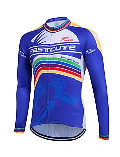 Fastcute Jerseu Cycling Pentru femei Bărbați de Copil Unisex Manșon Lung Bicicletă Sveter Jerseu TopuriUscare rapidă Fermoar Față