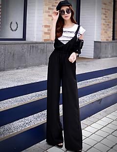 De roze poppenvrouwen solide chino broek, simple / verfijnd