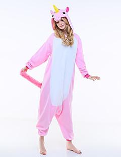 billige julen Kostymer-Voksne Kigurumi-pysjamas Enhjørning / Pegasus Onesie-pysjamas Kostume Polar Fleece Rosa Cosplay Til Pysjamas med dyremotiv Tegnefilm Halloween Festival / høytid / Jul