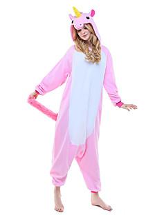 billige Kigurumi-Kigurumi-pysjamas Enhjørning Onesie-pysjamas Kostume Polar Fleece Lilla Blå Rosa Cosplay Til Pysjamas med dyremotiv Tegnefilm Halloween
