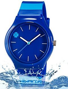 billige Børneure-Quartz Armbåndsur Farverig Plastik Bånd Blade Slik Afslappet Mode Sej Stribet Blåt