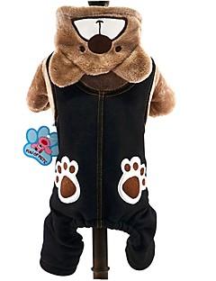 billiga Hundkläder-Katt Hund Dräkter/Kostymer Huvtröjor Jumpsuits Hundkläder Djur Grå Brun Manchester Kostym För husdjur Herr Dam Gulligt Cosplay Håller