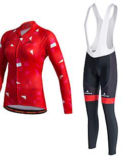 cheap Cycling Clothing-Miloto Cycling Jersey with Bib Tights Women's Unisex Long Sleeves Bike Tracksuit Jersey Tights Bib Tights Top Clothing Suits Bottoms