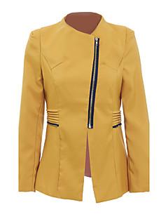 ieftine Blazere-Pentru femei Rotund Regular Jachetă Zilnic Simplu Casual, Mată Primăvară Toamnă Bumbac