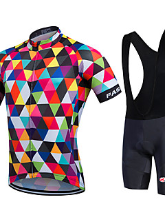 baratos -Fastcute Camisa com Bermuda Bretelle Homens Mulheres Unisexo Manga Curta Moto Calções Bibes Pulôver Camisa/Roupas Para Esporte Tights Bib
