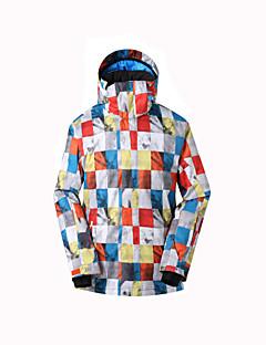 GSOU SNOW Детские Лыжная куртка Водонепроницаемость Сохраняет тепло Быстровысыхающий С защитой от ветра Ультрафиолетовая устойчивость