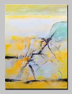 tanie Pejzaże abstrakcyjne-Hang-Malowane obraz olejny Ręcznie malowane - Krajobraz Nowoczesny / Fason europejski Z ramą