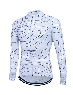 お買い得  サイクリングジャージ-Fastcute サイクリングジャージー 男性用 長袖 バイク トップス 保温 防風 フリース クラシック 冬 サイクリング/バイク ホワイト ブラック