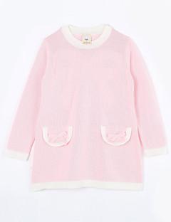 女の子の カジュアル/普段着 ゼブラプリント コットン,セーター&カーデガン 秋 ピンク