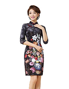 tanie Etniczne & Cultural Kostiumy-Tradycyjne Damskie Spódnice / Sukienka ołówkowa / Sukienka typu A-Line Cosplay Czarny Krótka