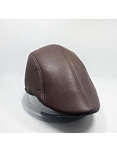 billiga Dampälsar och läder-Unisex Vintage Basebollkeps - PU Bomull Enfärgad