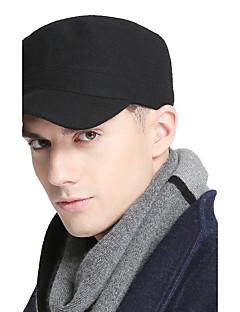 billige Trendy hatter-Unisex Kontor Aktiv Baseballcaps Ensfarget Bomull