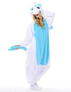 Kigurumi Pijamale Unicorn Leotard/Onesie Festival/Sărbătoare Sleepwear Pentru Animale Halloween Albastru Peteci Lână polară Kigurumi