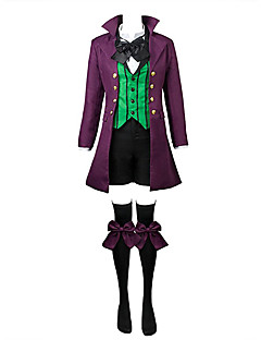 Inspired by Black Butler Ciel Phantomhive Anime Cosplay Costumes Cosplay Suits Solid Patchwork Long Sleeves Coat Vest Shirt Pants Leg