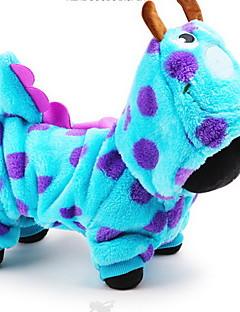 billiga Hundkläder-Hund Dräkter/Kostymer Huvtröjor Jumpsuits Hundkläder Tecknat Blå Cotton Kostym För husdjur Herr Dam Gulligt Cosplay
