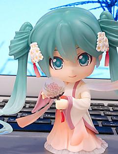 billige Anime cosplay-Anime Action Figurer Inspirert av Cosplay Hatsune Miku 10 CM Modell Leker Dukke