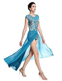 tanie Stroje baletowe-Balet Stroje Damskie Wydajność Z cekinami / Lycra Cekin Bez rękawów Naturalny / Taniec nowoczesny