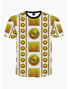 お買い得  メンズTシャツ&タンクトップ-男性用 ビーチ - プリント Tシャツ ラウンドネック