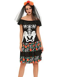 Kostra/Czaszka Kostým Dámské Halloween Karneval Den smrti Festival/Svátek Halloweenské kostýmy Tisk