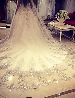 One-tier Wedding Veil Cathedral Veils With Lace Net Wedding Accessories