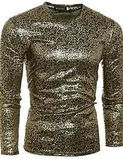お買い得  メンズTシャツ&タンクトップ-男性用 クラブ Tシャツ Vネック レタード コットン