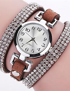 billige Armbåndsure-Dame Quartz Simuleret Diamant Ur Armbåndsur Farverig Imiteret Diamant Punk PU Bånd Vedhæng Glitrende Vintage Slik Afslappet Bohemisk Mode