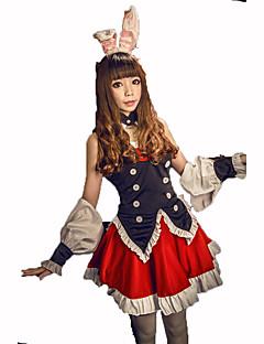 Stuepike Kostumer Kvinnelig Halloween Jul Karneval Barnas Dag Nytt År Oktoberfest Festival/høytid Halloween-kostymer Rød/Svart Ensfarget
