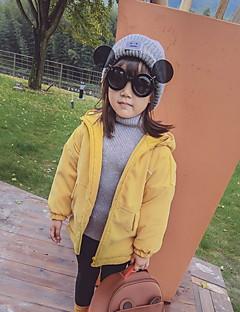 Menina Moletom com Capuz & Abrigo Casual Cor Única Inverno Algodão Manga Longa