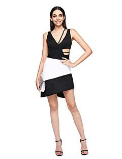 A-Linie Ausgekehlt Kurz / Mini Charmeuse Mattes Satin Cocktailparty Ball Kleid mit Plissee durch TS Couture®
